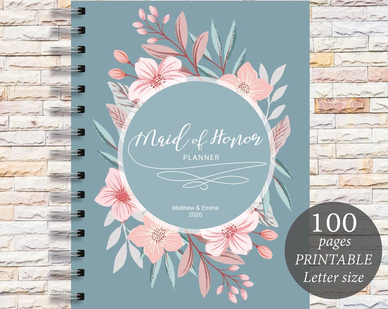 image about Maid of Honor Printable Planner identified as Maid of Honor Planner Printable Marriage Planner Wedding day Organizer Do it yourself Printable Planner Wedding day Planner PDF PDF Marriage ceremony Inserts