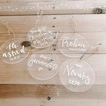 Custom Acrylic Ornament - Custom Christmas Gift - Acrylic Ornament - Glass Ornament - Family Ornament - Name Ornament - Custom Ornament