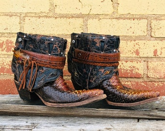 83a6379bb8c Ankle snake boots | Etsy