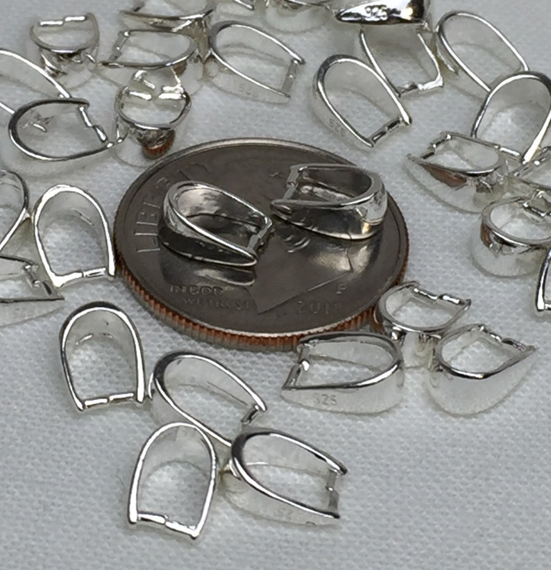 7x5mm Pinch Bail Pinch Bail Versatile Sterling Silver Pinch Bail