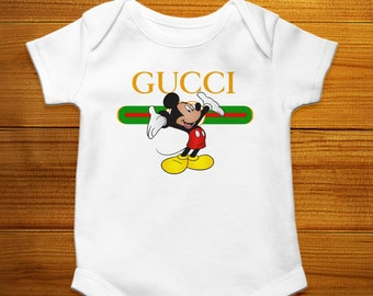 66b9a261 Gucci Baby Onesie, Gucci Mickey Mouse Kids, Baby Mickey Mouse, Gucci Baby  Bodysuit, Disney Baby Clothes, Designer Baby Outfit, Baby Shower