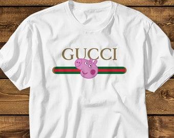 3e570121c Gucci Peppa Pig Shirt KIDS MENS WOMENS Gucci Tee Designer T shirt Funny  Fashion Tshirt Geek T-shirt Peppa Pig Adult Shirt Birthday Gift
