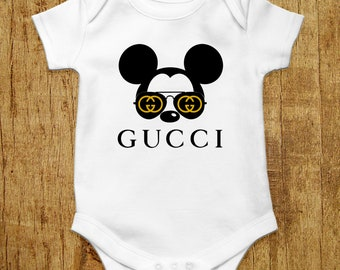 2ac427cac6e1 Gucci Baby Bodysuit Disney Baby Clothes Mickey Mouse Onesie Gucci Inspired  Baby Boy Baby Girl Designer Baby Outfit Gucci Baby Onesie Gift