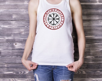 6c857fefabfeb Vegvisir Tank Viking CompassT shirt Mens Womens Tank Top Norse Shirt Pagan  Symbol Viking T-shirt Odin Shirt Viking Runes Shirt Graphic Tank
