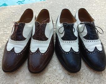 7ba8fd06d3b Gucci Wingtips Oxfords. Pair. Black   Brown. USA Size 9D