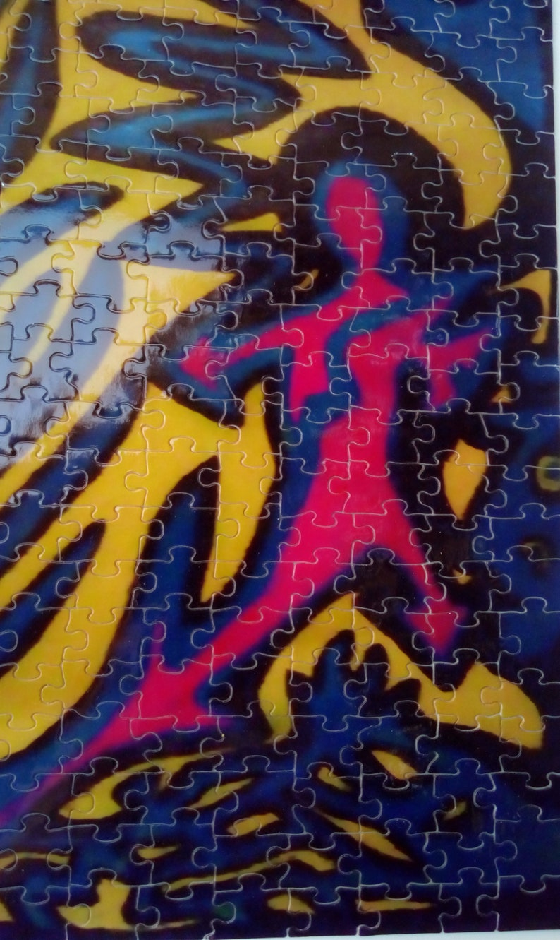 Psychedelic art puzzle