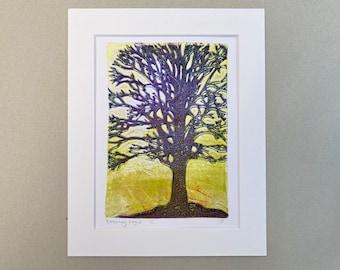 "ORIGINAL ART - 'Evening Light' - 8x10"" Mounted Monotype Print"