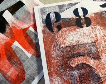 GREETINGS CARD DUO - Handmade Original Art - Blank Cards, Notelets, 2 Pack