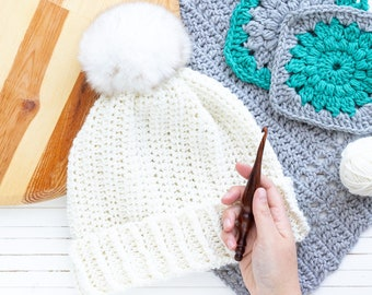 Twisted Whims Hat Crochet Pattern (Printable PDF)