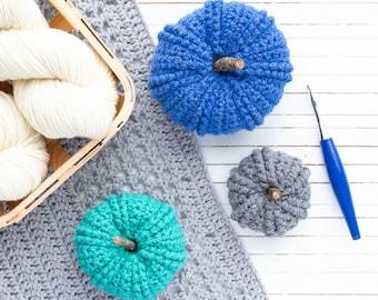 Double Twist Pumpkin Crochet Pattern (Printable PDF with 3 Sizes)