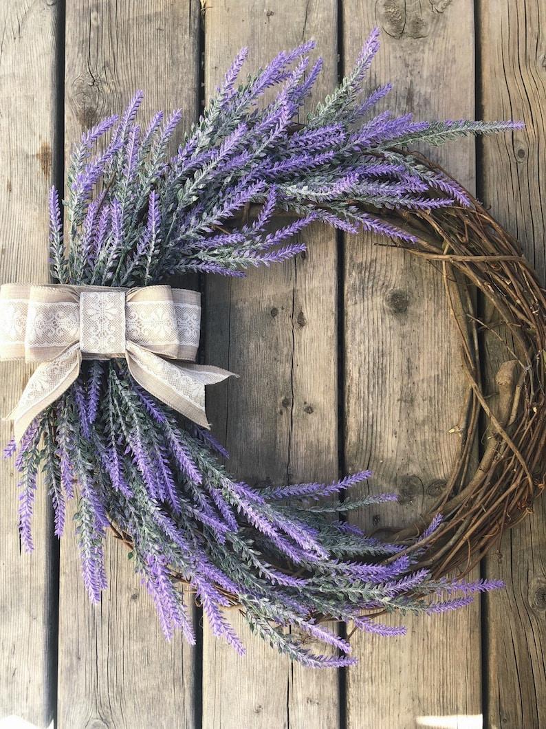 Farmhouse decor Farmhouse wreath Lavender wreath Housewarming gift Spring wreath Everyday wreath