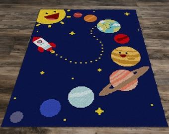 Solar System Blanket (Row by Row)