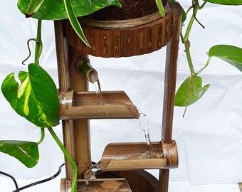 Table top water fountain,mini fountain,indoor fountain handmake fountain real handmake from coconut shell & bamboo