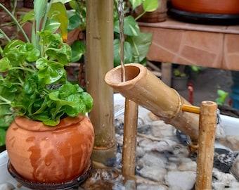 Shishi odoshi fountain japanese style indoor/outdoor fountain mini fountain from real bamboo