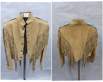Cripple Creek ~ Fringed ~ Jacket ~ Western Style ~ Brown Suede ~ Awesome ~ Stylish ~ Recycled ~ Vintage ~ Women/'s size L