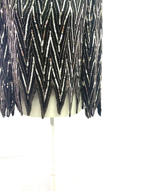 St. Honore Vintage Sequin Beaded Silk Shirt Blous… - image 8