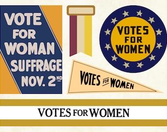 Votes for Women SVG Bundle | 100th Anniversary of Women's Suffrage Cut Files | Women's Vote Centennial | 19th Amendment