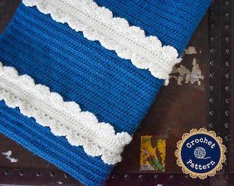 Crochet Baby Blanket | The Donwell Baby Blanket Crochet Pattern | Baby Girl Heirloom Blanket | Instant PDF Download
