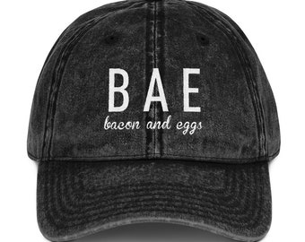 BACON AND EGGS Vintage Cotton Twill Cap 0ce0d3fc331a
