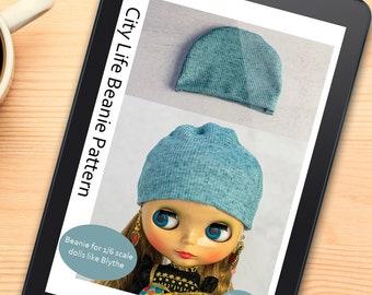 Beanie Doll Pattern - Blythe Sewing Pattern - 1/6 Scale Doll - Beginner Friendly - Pullip - Tutorial - PDF Instant Download - DIY Hat