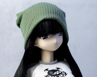 Sample Beanie For 1/3 Scale Doll, Doll Hat, Hair Accessories, BJD, Slouchy Hat, Winter Clothes for Dolls, Fall Cap, Autumn, Outfit, Headwear