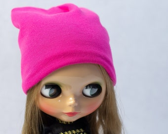 Sample Beanie For Blythe, Doll Hat, Hair Accessories, Pullip, Slouchy Hat, Winter Clothes for Dolls, Fall Cap, Autumn, Outfit, Headwear