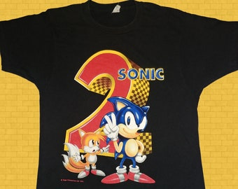 6e95dccdbae9 Vintage Sonic the Hedgehog T-shirt 1991 SEGA