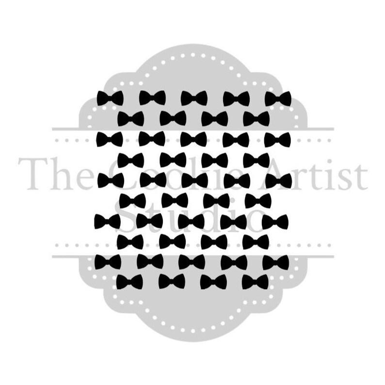 92d928bcc93c1 Bow Tie background Silk Screen Stencil, Custom Silk Screen Stencil, Cookie  Stencil, Mesh Stencil