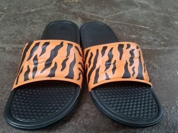7cdeabfd33313 Custom Tiger Nike Slides