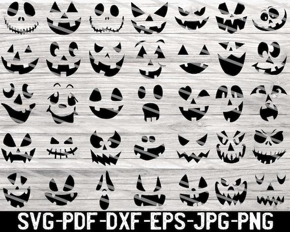 Pumpkin Face Svg Bundle Cute Halloween Faces Svg Pumpkin