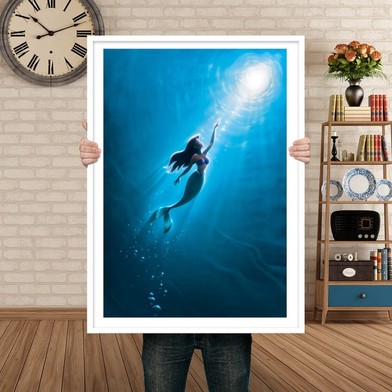 The Little Mermaid Poster Movie Poster Art Home Decor Etsy