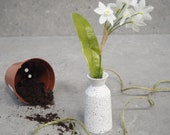 Small Concrete Vase, Table Centre-piece, Jesmonite Flower Pot, New Home Gift, Dressing Table Ornaments