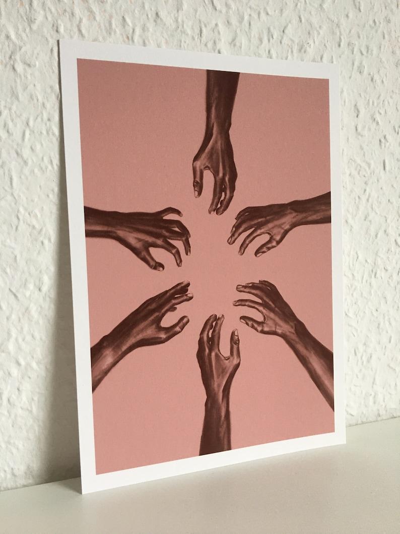 art print A4 /& A5  drawing  image  decoration  mind attacks