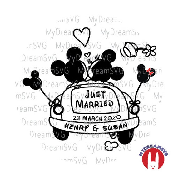 Custom Personalize Just Married Svg Dxf Eps Png Jpg Family Etsy