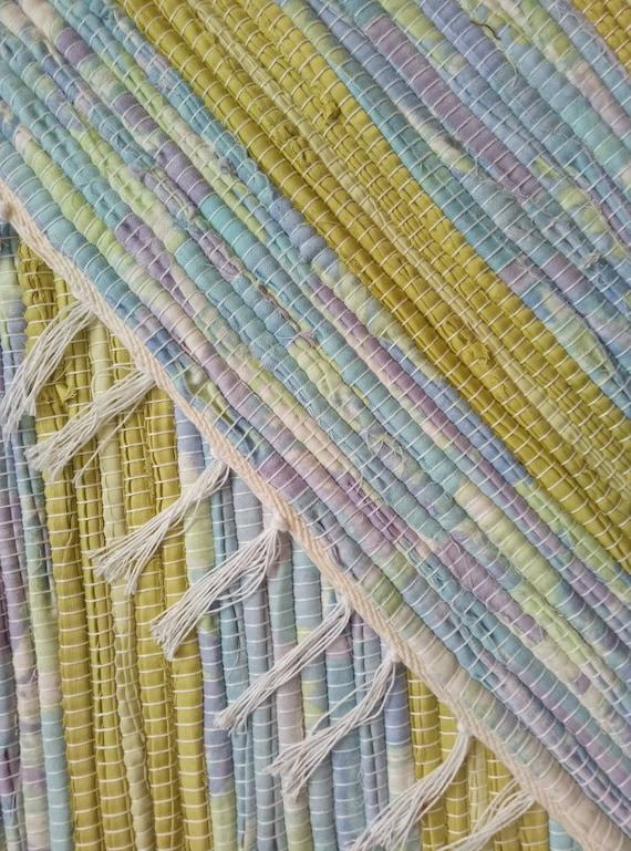 Hand Woven Cotton Rag Rug Runner | Nursery rag rug | Kitchen Runner | Bath  room rugs | Housewarming gift