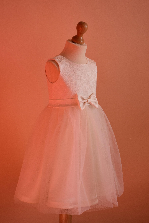 Ivory flower girl dress sizes 1 to 8