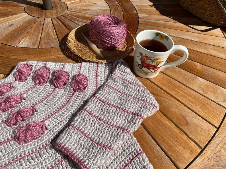 Sunshine Puff Sweater CROCHET PATTERN Women's Adult Small image 0