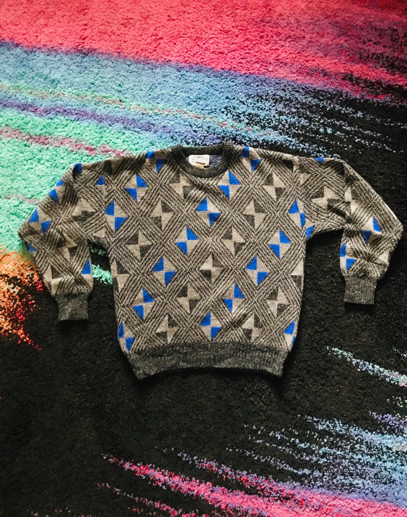 80s Expressions Geometric Sweater