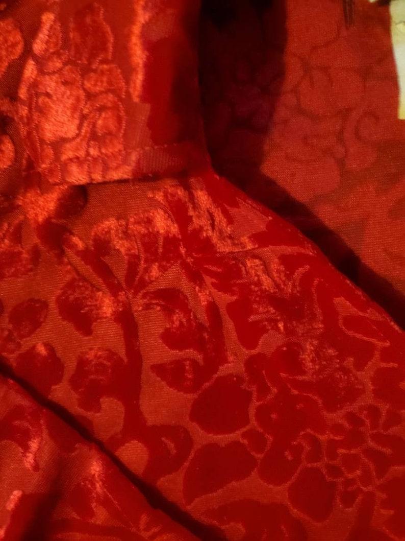 Crimson Velvet Shirt