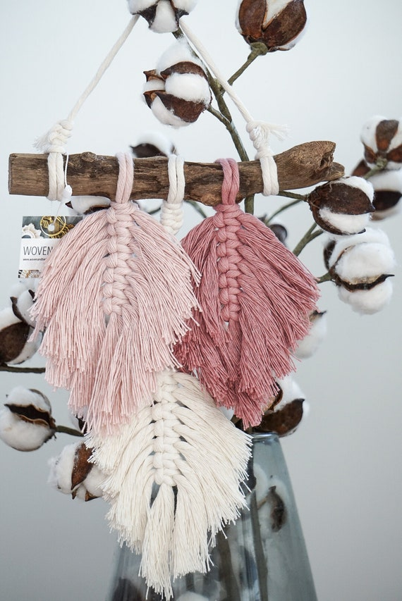 Rose Feather Wall Hanging