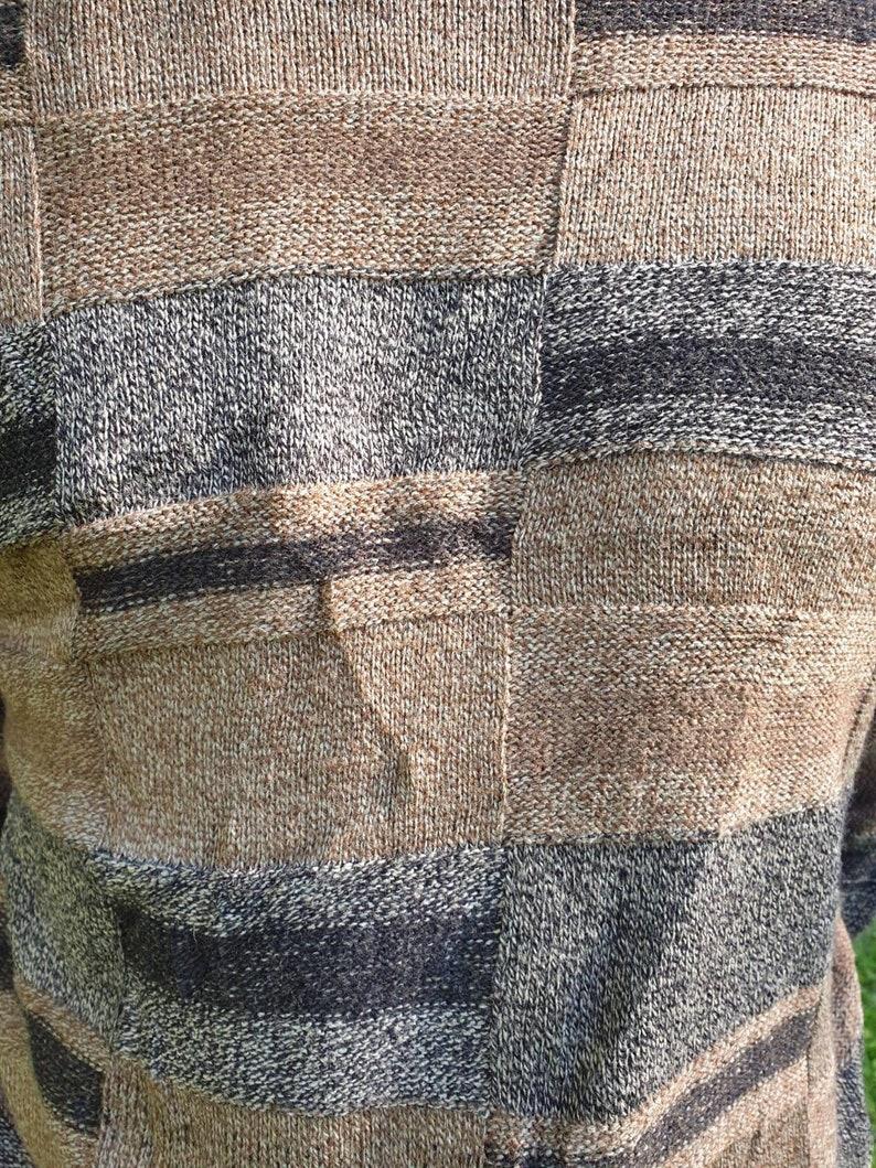 Men/'s vintage jumper brown