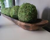 Moss Balls - Decorative Natural Moss Ball - 4 quot Moss - Dough Bowl Decor