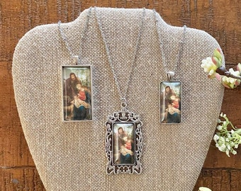 Holy Family Pendant Necklace