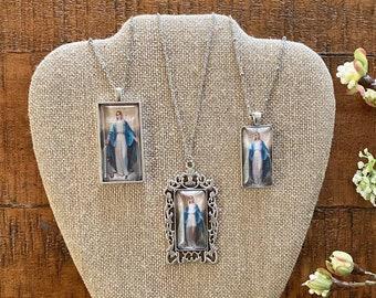 Our Lady of Grace Pendant Necklace