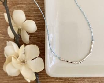 fiat - Morse Code Necklace in silver
