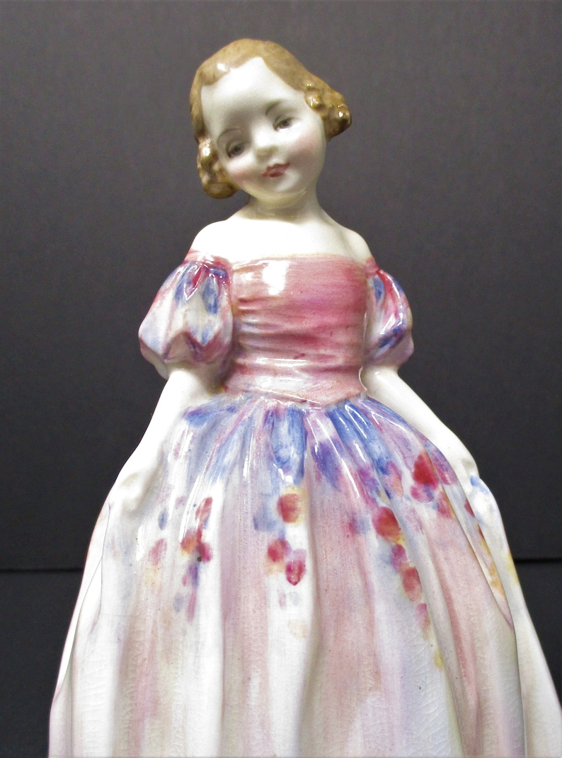 Potted By Pre-War Royal Doulton Figurine HN 1635 Marie