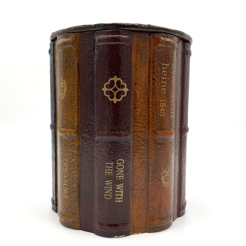 Classic Book Spines Canister with Lid