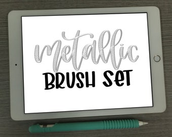 iPad Lettering Collection - Procreate Brush - BBL Metallic Lettering/Calligraphy Brush Set - Digital Download