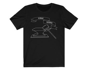 "Xel Art - ""Forge Ahead"" Black and White Hammer Logo"