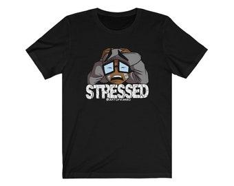 Stressed Kimboji with Text By Art of Kimbo T Shirt